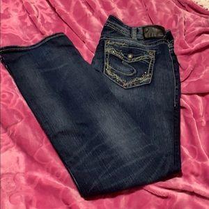 Silver super stretch jeans